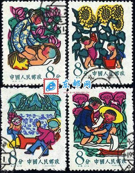 小学生自己手绘的邮票