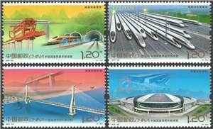2017-29 中国高速铁路发展成就 邮票(购四套供厂铭方连)